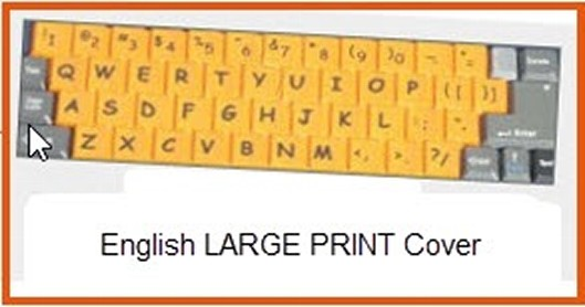 English Large Print Keyboard Cover