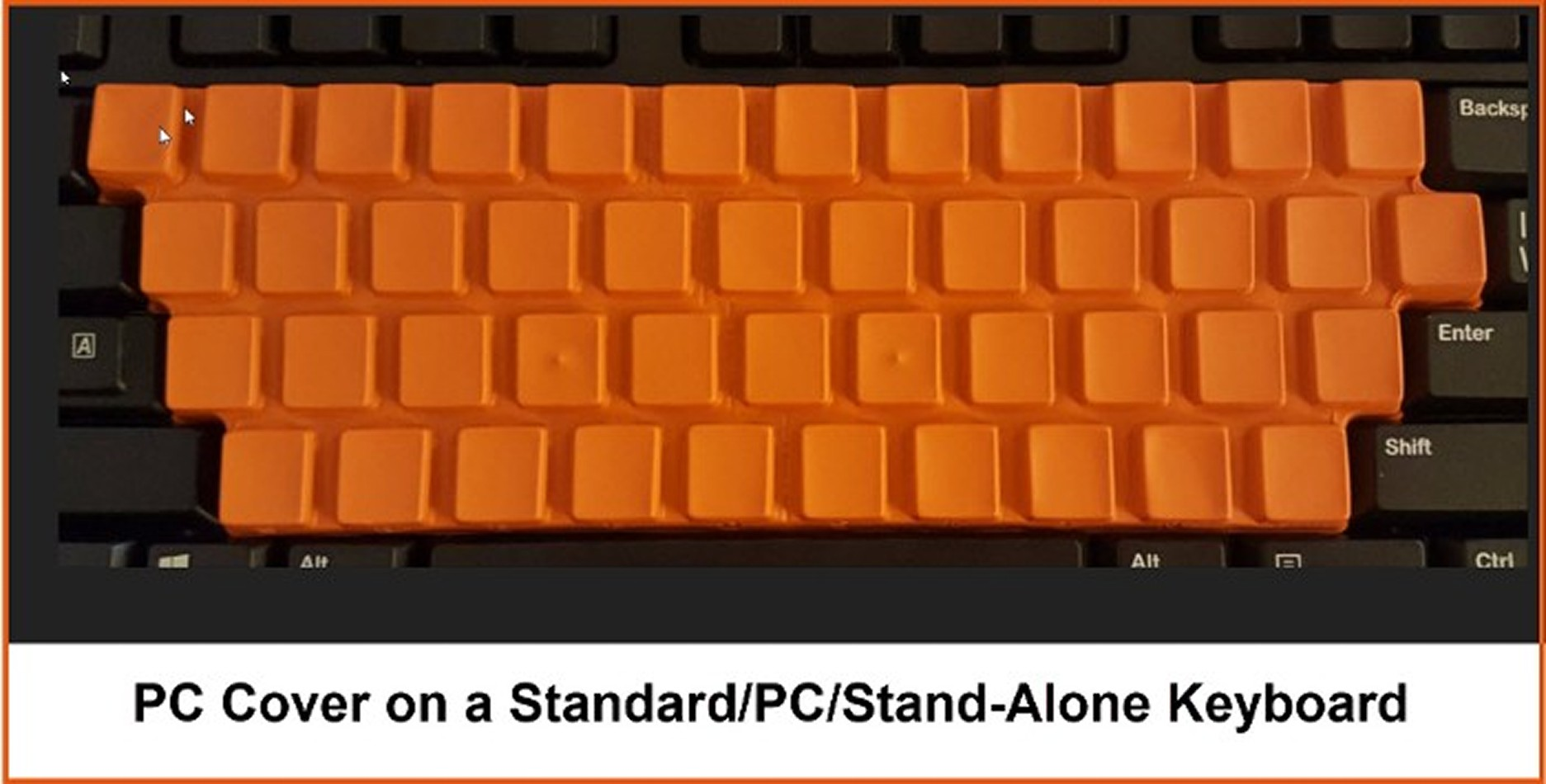 PC Cover on a Standard/PC/Stand-Alone Keyboard