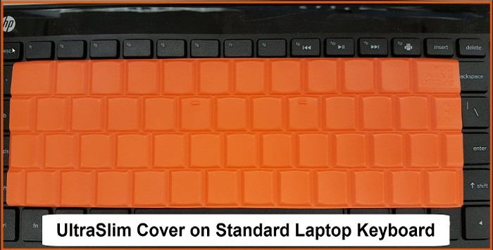 UltraSlim Cover on Standard Laptop Keyboard
